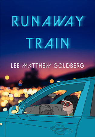 Runaway Train Book Cover showing a girl with sunglasses looking out of a car window